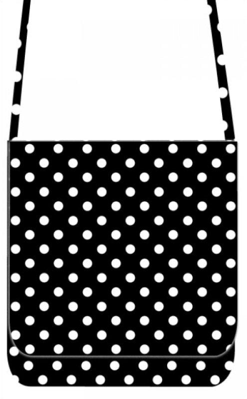 Mini Messenger Kit - LakeHouse Black Polka Dots
