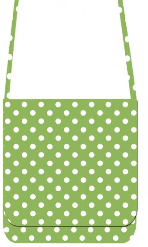 Mini Messenger Kit - LakeHouse Green Polka Dots