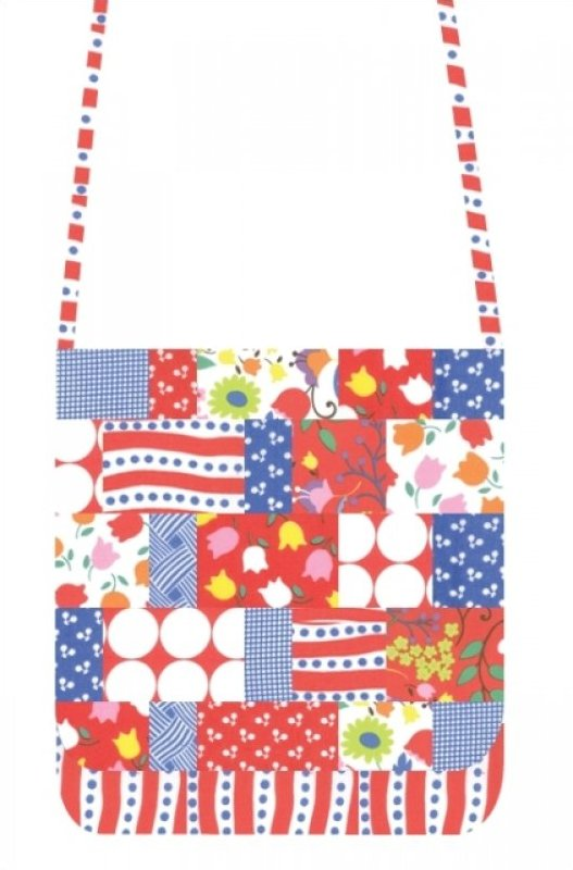 Mini Messenger Kit - Moda Hoopla Red/White/Blue