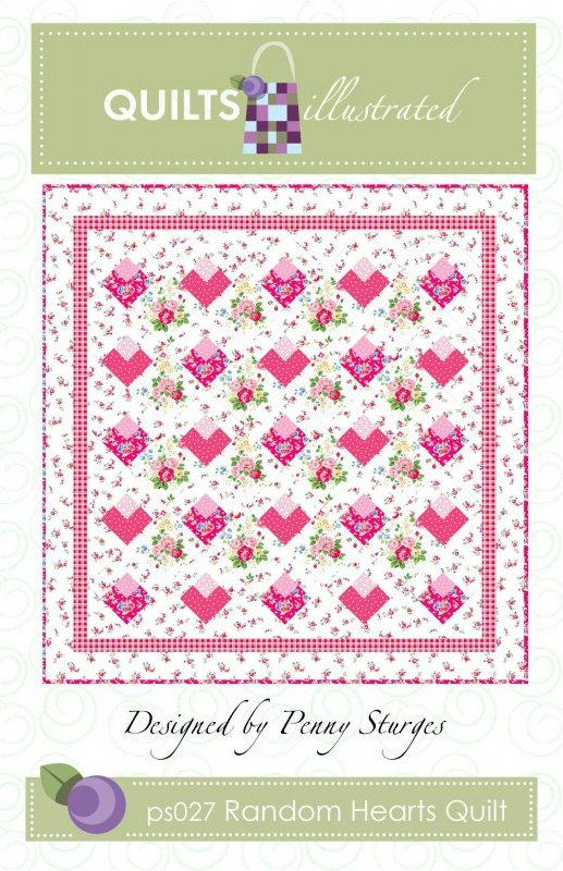 ps027 Random Hearts Quilt Pattern