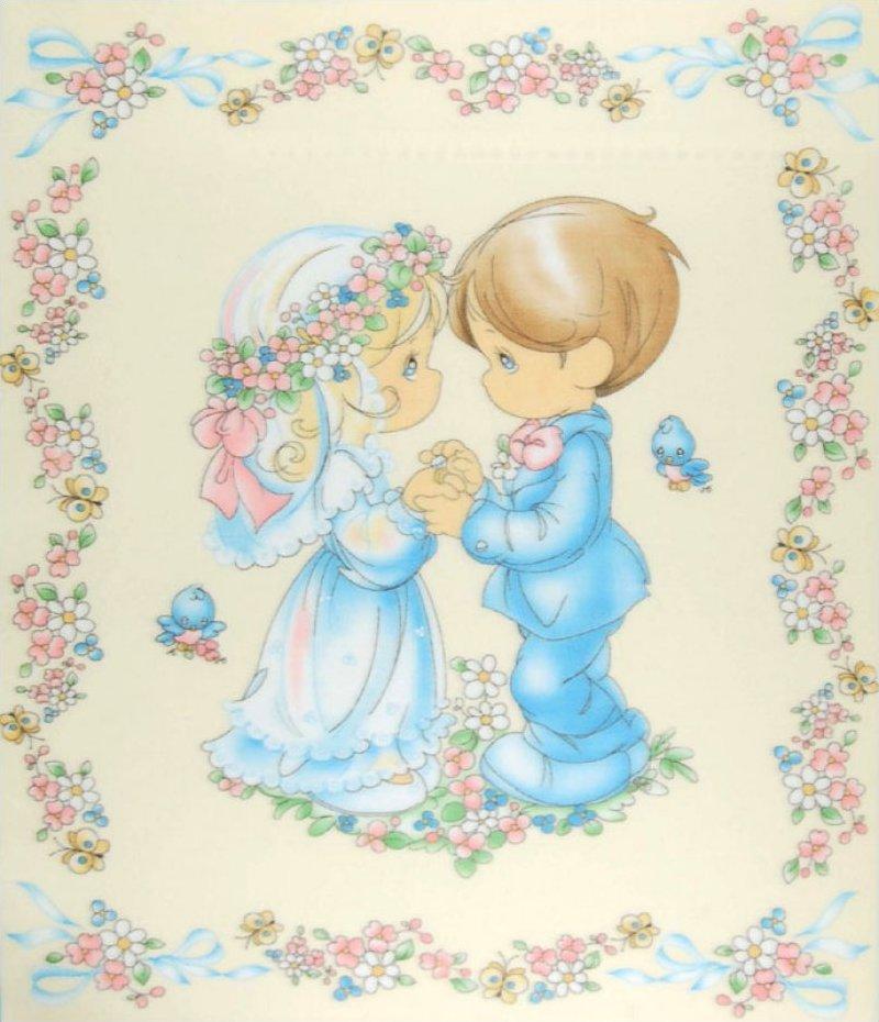 Precious Moments Wedding Panel