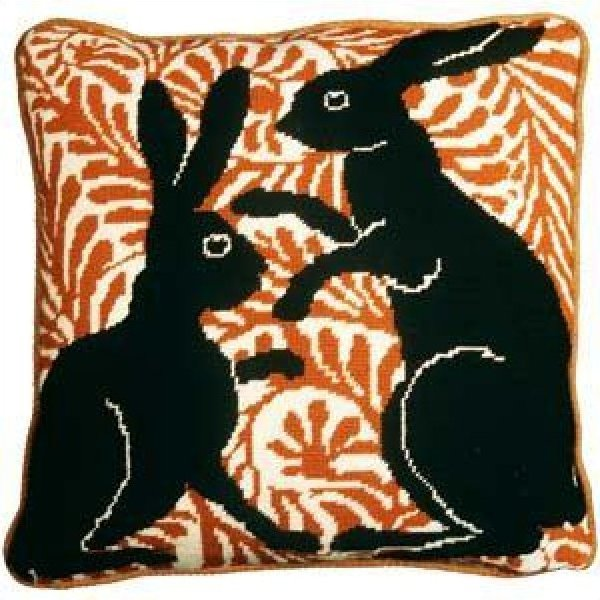 Fine Cell Needlework<BR> Black Boxing Hares