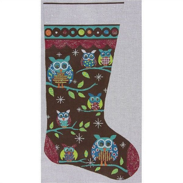 Christmas Stocking Needlepoint Kits<BR>Owls