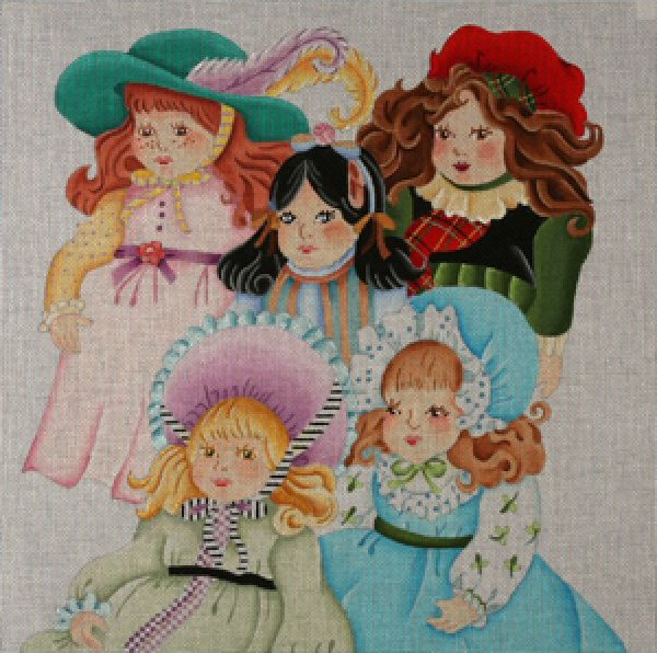 Dede Needlepoint<BR>Vintage Dolls