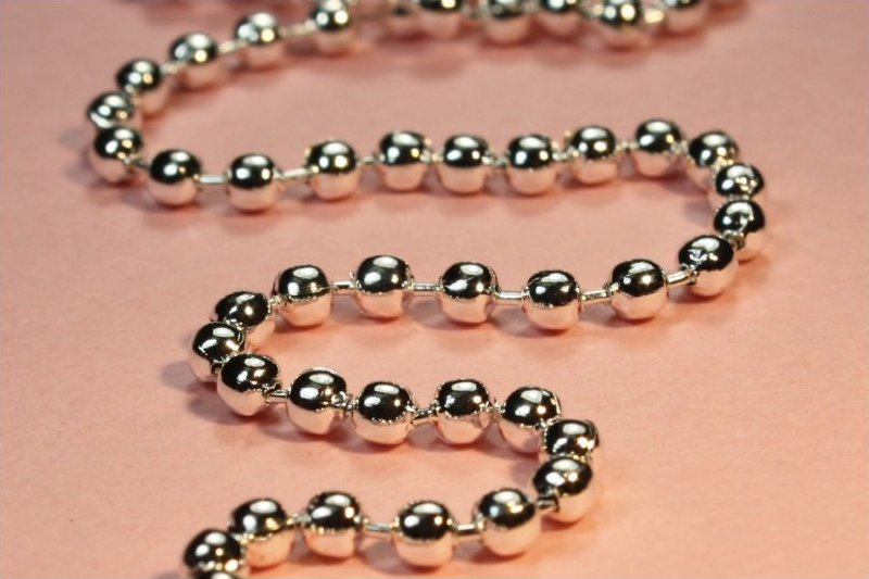 68102 <br /> Ball Chain Necklace <br /> Silver Plated