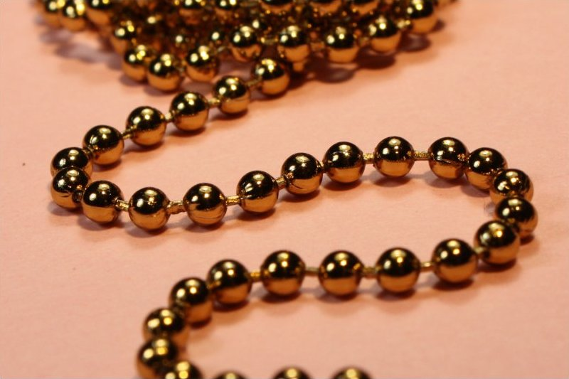 68104 <br /> Ball Chain Necklace <br /> Antique Gold