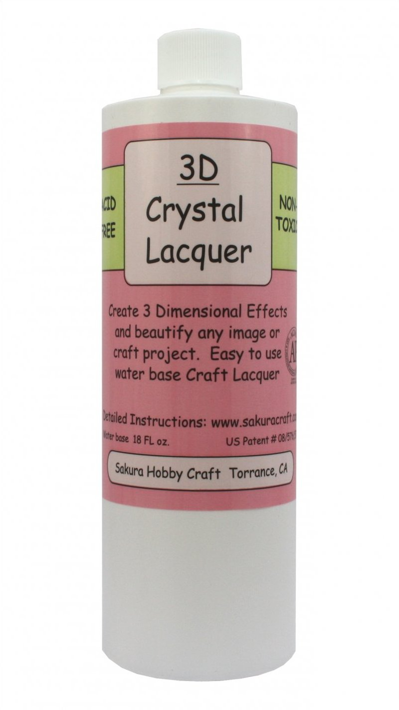 01818 <br /> 3D Crystal Lacquer <br /> 18 oz. Refill
