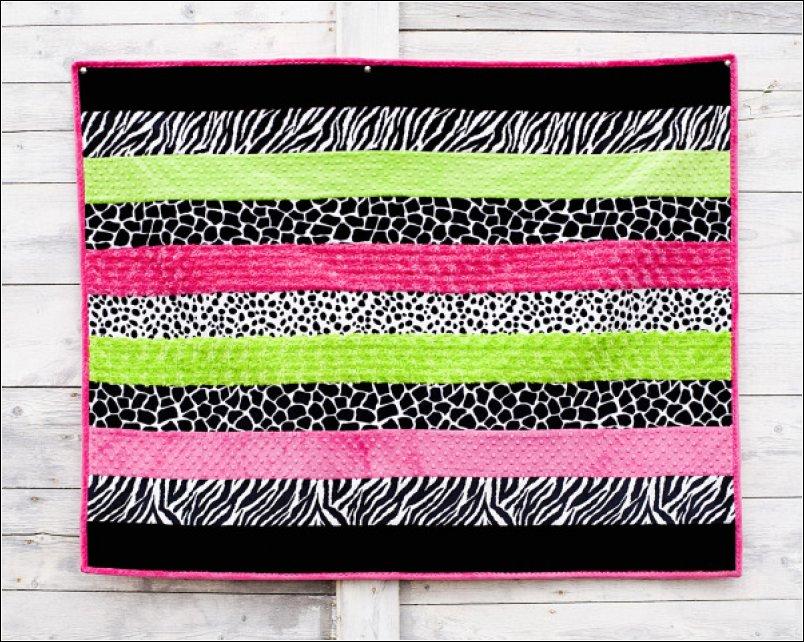 Baby Cuddle Soft Strip Quilt Kit