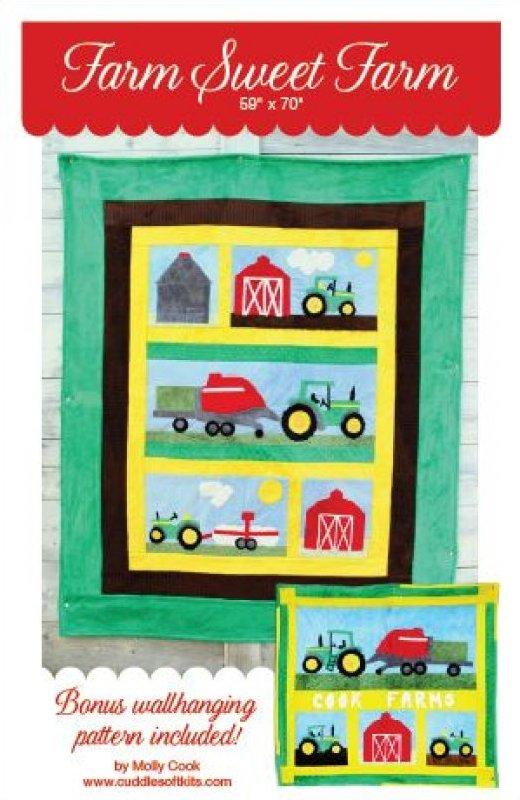 Farm Sweet Farm Applique Quilt Pattern