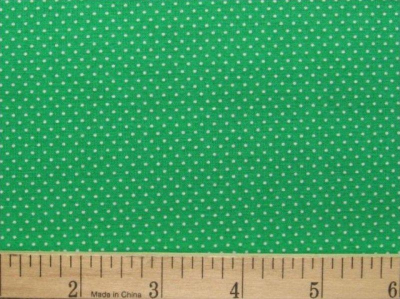 Fabric Cotton Mini Dot Micro Dot Pin Dot Polka Dots Green