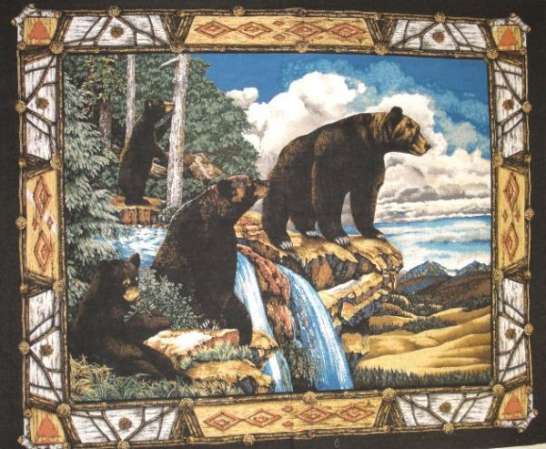 Marshall Dry Goods Wildlife Prints Fabric Panel 45 Inch By