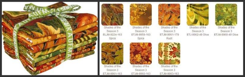 Shades of the Season- Fat Quarter Bundle