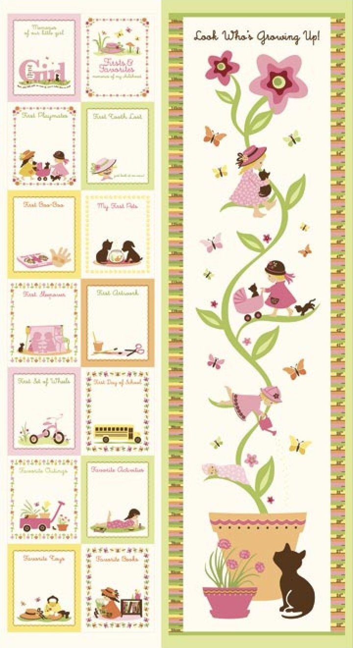 Child's Play with Kate and Nate Girl- Growth Chart-6675-21