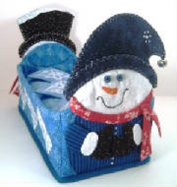 Snowmen and Snowflakes Basket - January