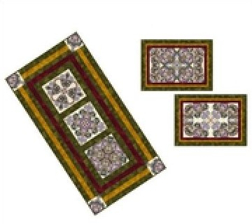 Ribbons and Swirls Table Runner, Size-26 1/2