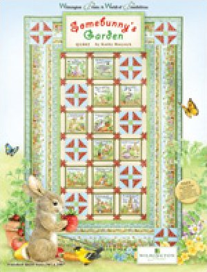 Wilmington Prints Somebunny's Garden Quilt Kit-by Kathy Rusynyk-Q1802-70  x106
