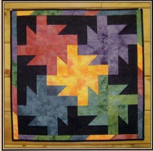Meteor Shower Wall Hanging Pattern by Stitchn' Sisters - 26x26 - 33MS