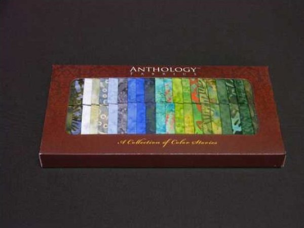 Batik Strips from Anthology Fabrics - Meadow - BA212-01