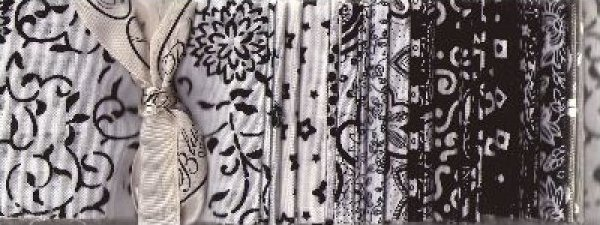 Blank Quilting Fab Stripes in Black & White - 0000BW