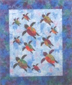 Turtle Trails 74.5 x 62.5 Quilt Pattern by Southwind Designs - SWD-205
