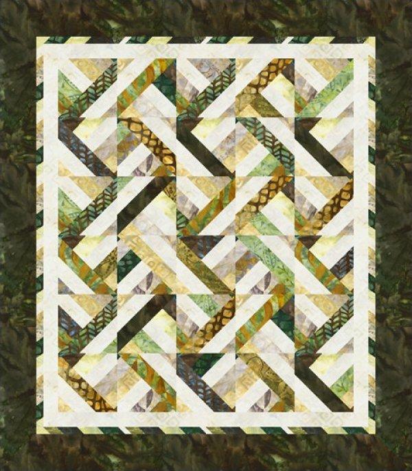 Dream Weaver Throw Kit 56 x 64 - for Robert Kaufman - Cozy Quilt Designs - K10535