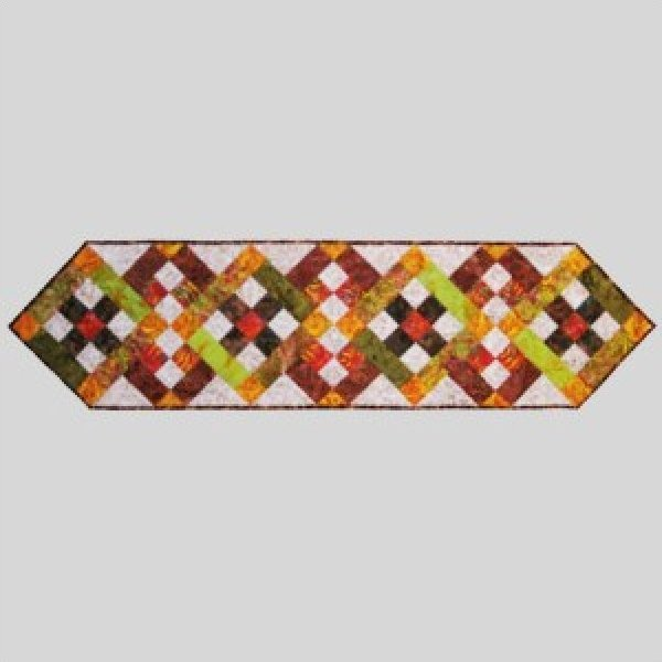 Sushi Roll Autumn Leaves Table Runner by  Princess Mirah Designs for Bali Fabrics -SUR-04