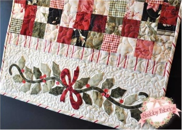 Enchanted Holiday Table Runner by Shabby Fabrics-Size-22 1/2 x 59 1/2.