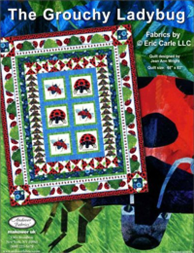 The Grouchy Ladybug Kit for Andover Fabrics - 68 x 83 - K10564