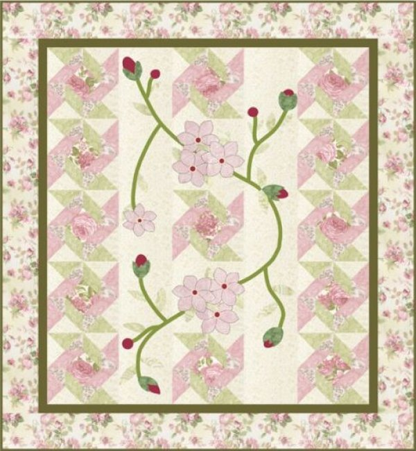 Victoriana - Quilt 46x50- A Graceful Stitch by Denise Sheehan for Robert Kaufman - K10583