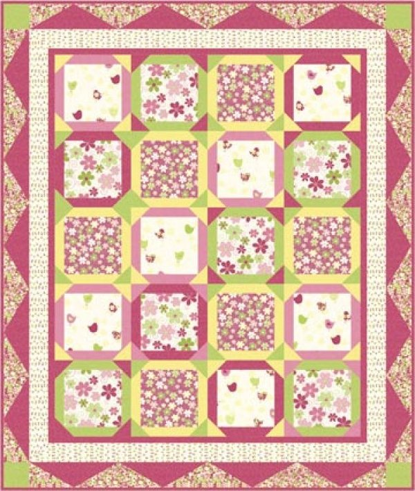 Songbird Suite  79  x67   by The Pieceful Quilter-  PTN433-10