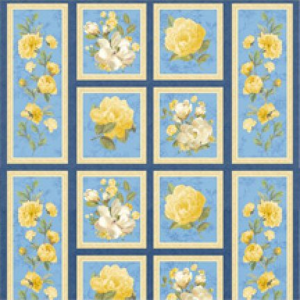 Sunshine Bouquet Panel by Wilmington Prints - 89120-457W