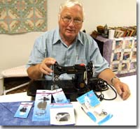 Ken with Featherweight Sewing Machine