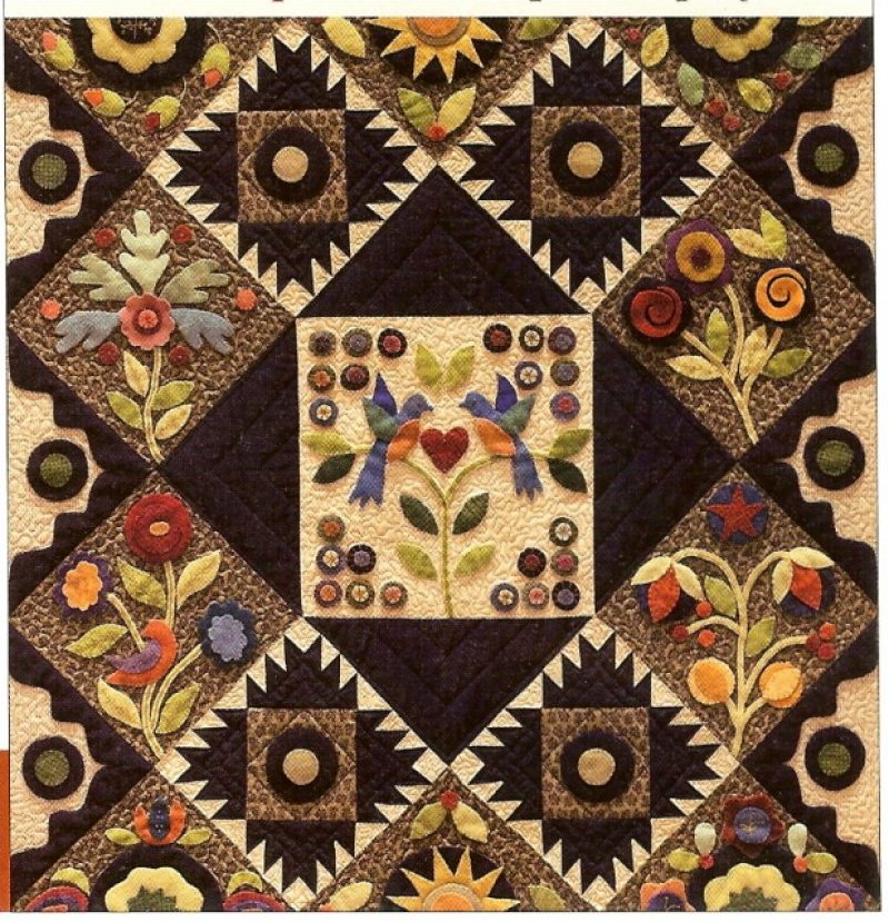 Pennies from Heaven - Wool Applique Block of the Month