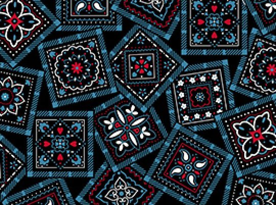 Bandana-Blue/Black