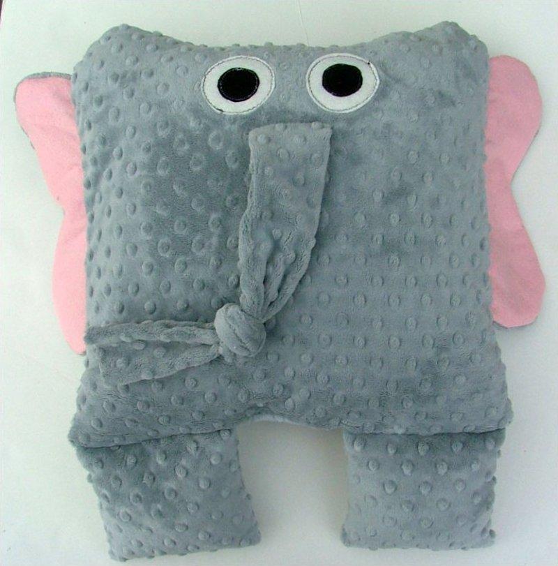 Giraffe, Elephant, and Hippo Pillows