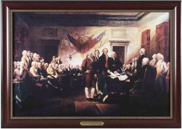 Executive Gallery painting of The Declaration of Independence by John Trumbull, 1756-1843