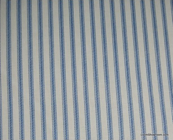 ticking stripe blue and white classic stripe heavy weight cotton fabric drapery fabric. Black Bedroom Furniture Sets. Home Design Ideas