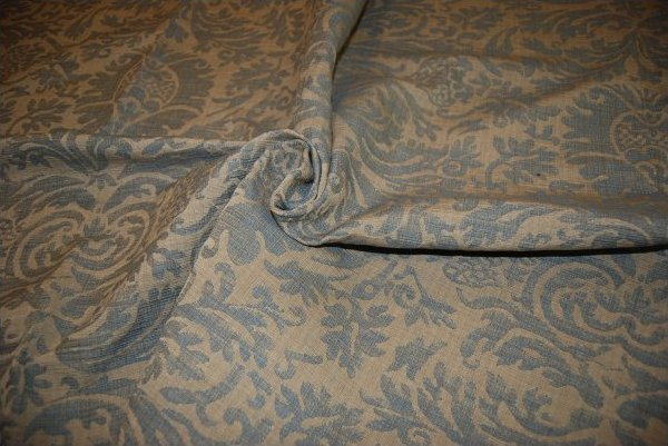 Ralph Lauren Home Austell Cotton Damask Fabric Heavy