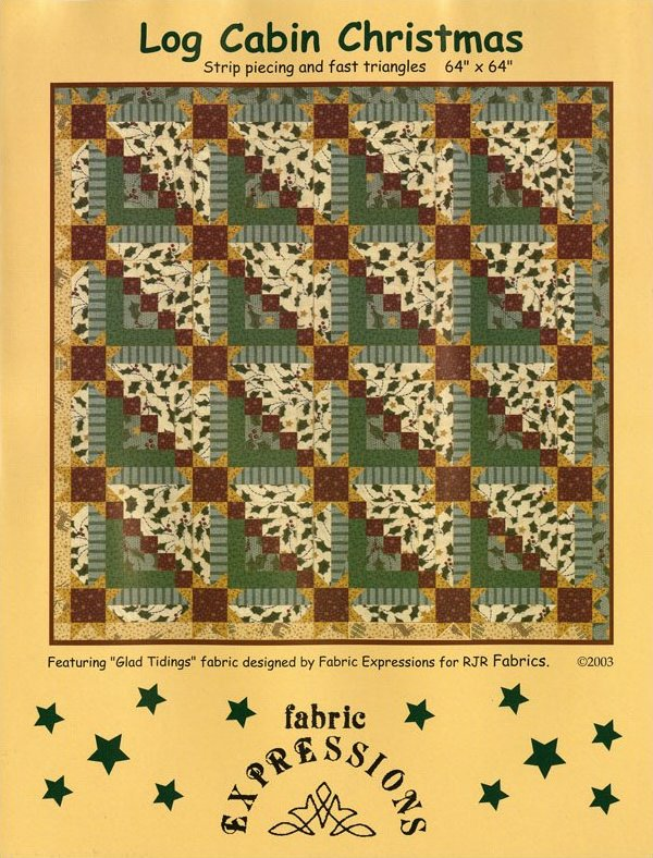 Log Cabin Christmas Pattern