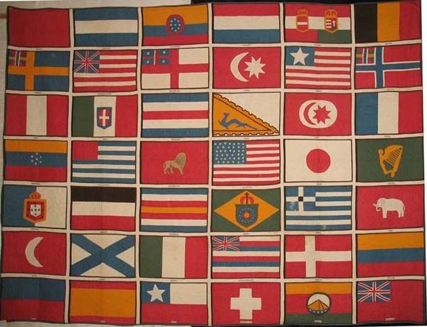 1876 PHILADELPHIA CENTENNIAL FLAGS OF THE NATIONS OF THE WORLD THAT EXHIBITED