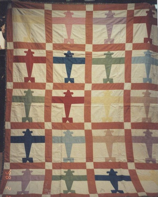 Airplanes Vintage Quilt