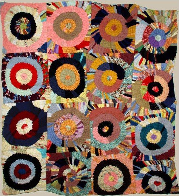 African American Multiple Targets Vintage Quilt