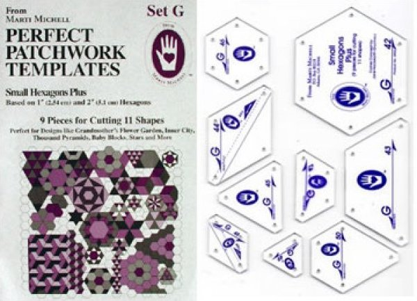 Marti Michell Perfect Patchwork Template Set G, MM8950