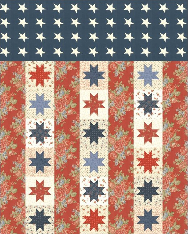 Free Quilt Patterns Moda Fabrics : Quilts of Valor Pattern by Moda 52x66