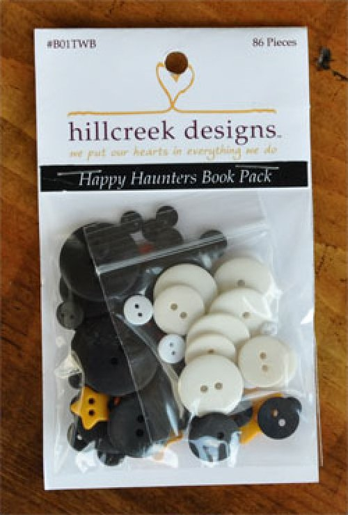 Happy Haunters Book Button Pack