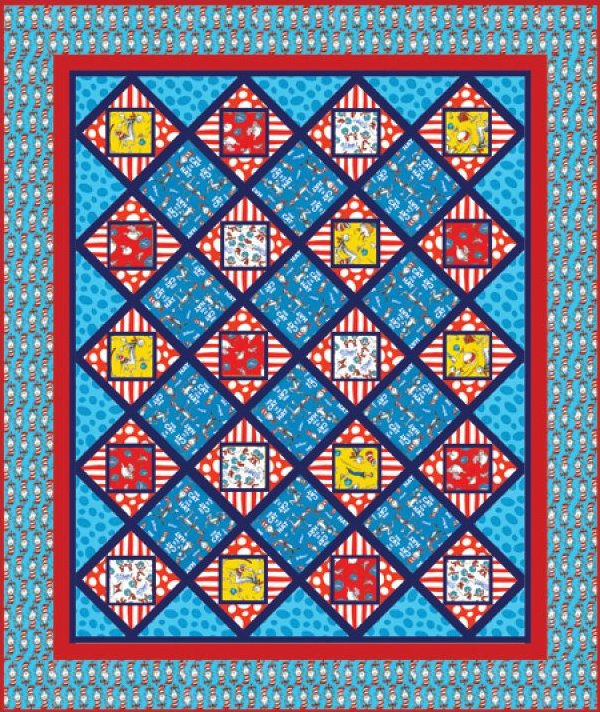 Seuss The Cat in the Hat Quilt Kit 183-10