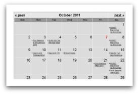 Events Calendar for your website