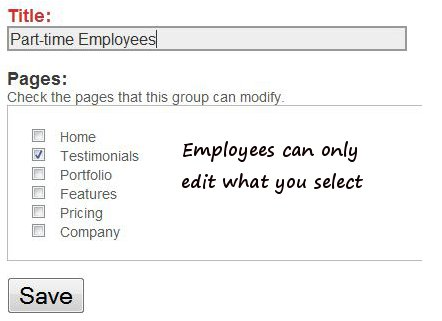 Control what your employees can edit.