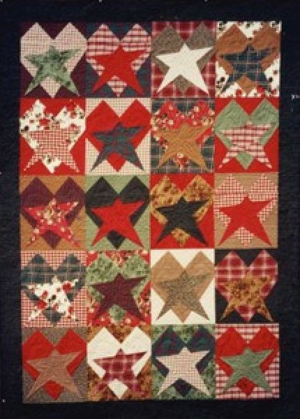 Crazy about hearts and stars quilt pattern designed by the buggy barn