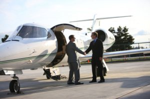 Private Jet and Business Man